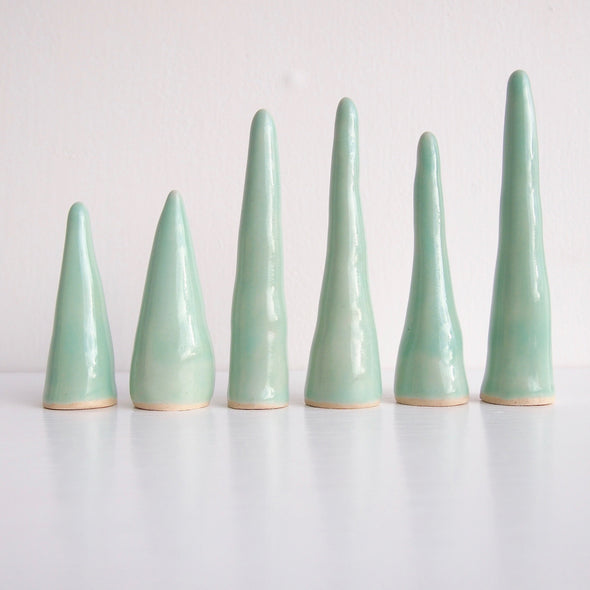 Ceramic ring cones in many rainbow colours