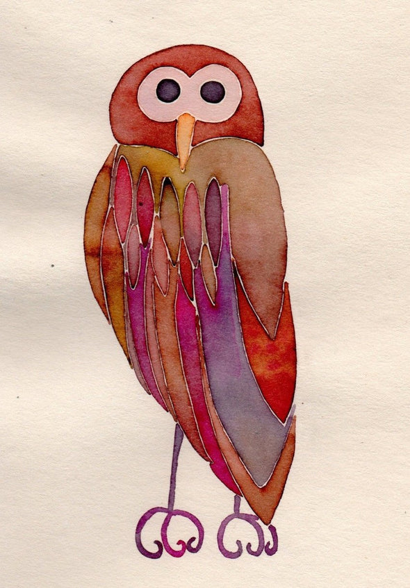 Brown owl card