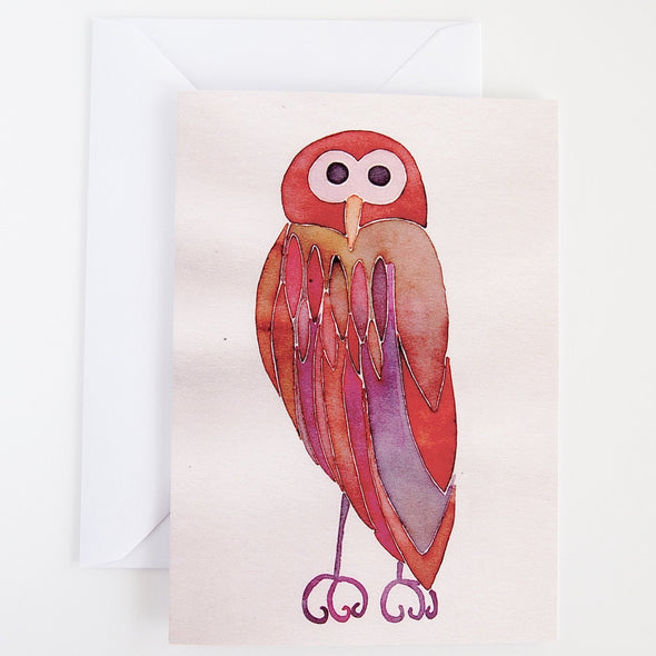 Brown owl greetings card