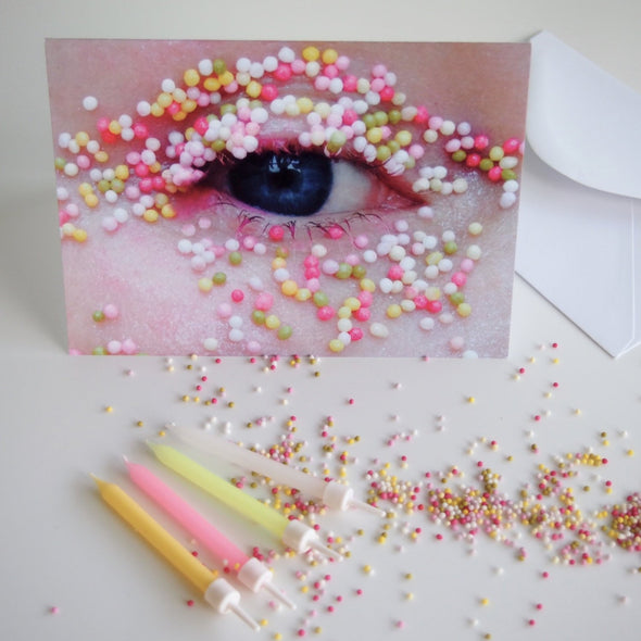 Eye card with hundreds and thousands