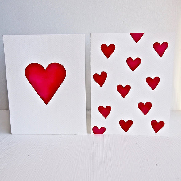 Many love hearts engagement card