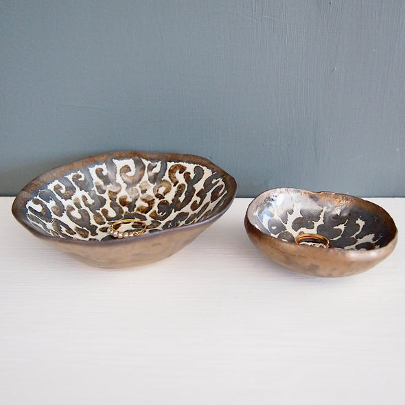 leopard print ring dishes