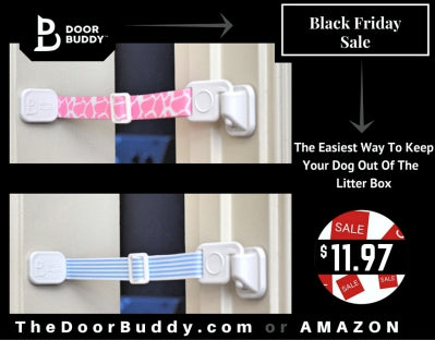 Door Buddy Black Friday and Cyber Monday Sale - perfect for baby proofing doors