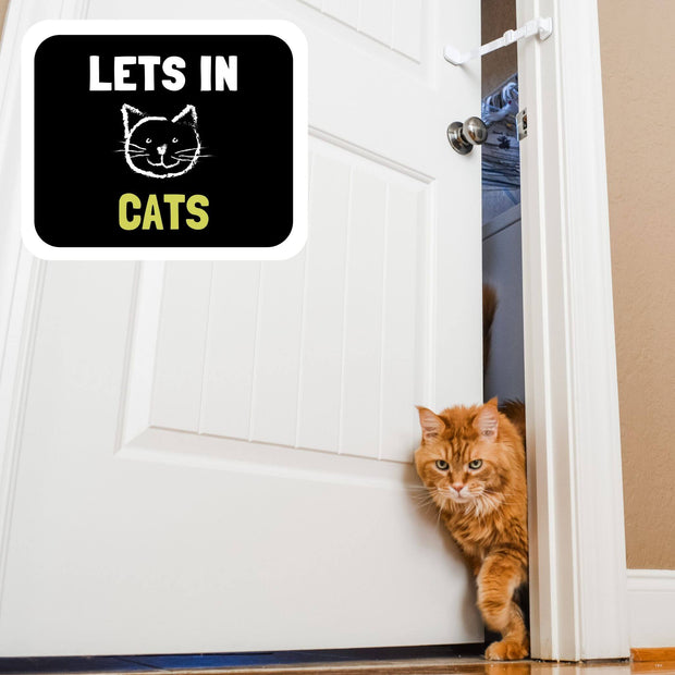 keep door ajar for cats