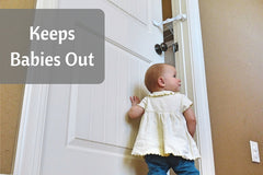 Keep baby out of cat food with Door Buddy