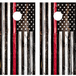 American Flag Red Line