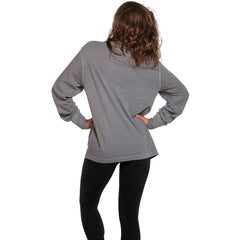 Boyfriend Long Sleeve Bear T - Grey