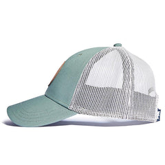 Leather Patch Trucker Cap - Green