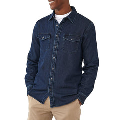 Big Jake Indigo Knit Shirt - Dark Indigo