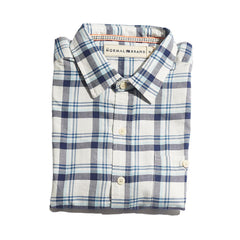Clayton Twill Button Up Shirt - Navy