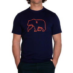 Outline Bear T - Navy
