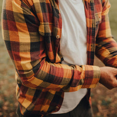 Cousins Plaid - Tibetan Red/Old Gold