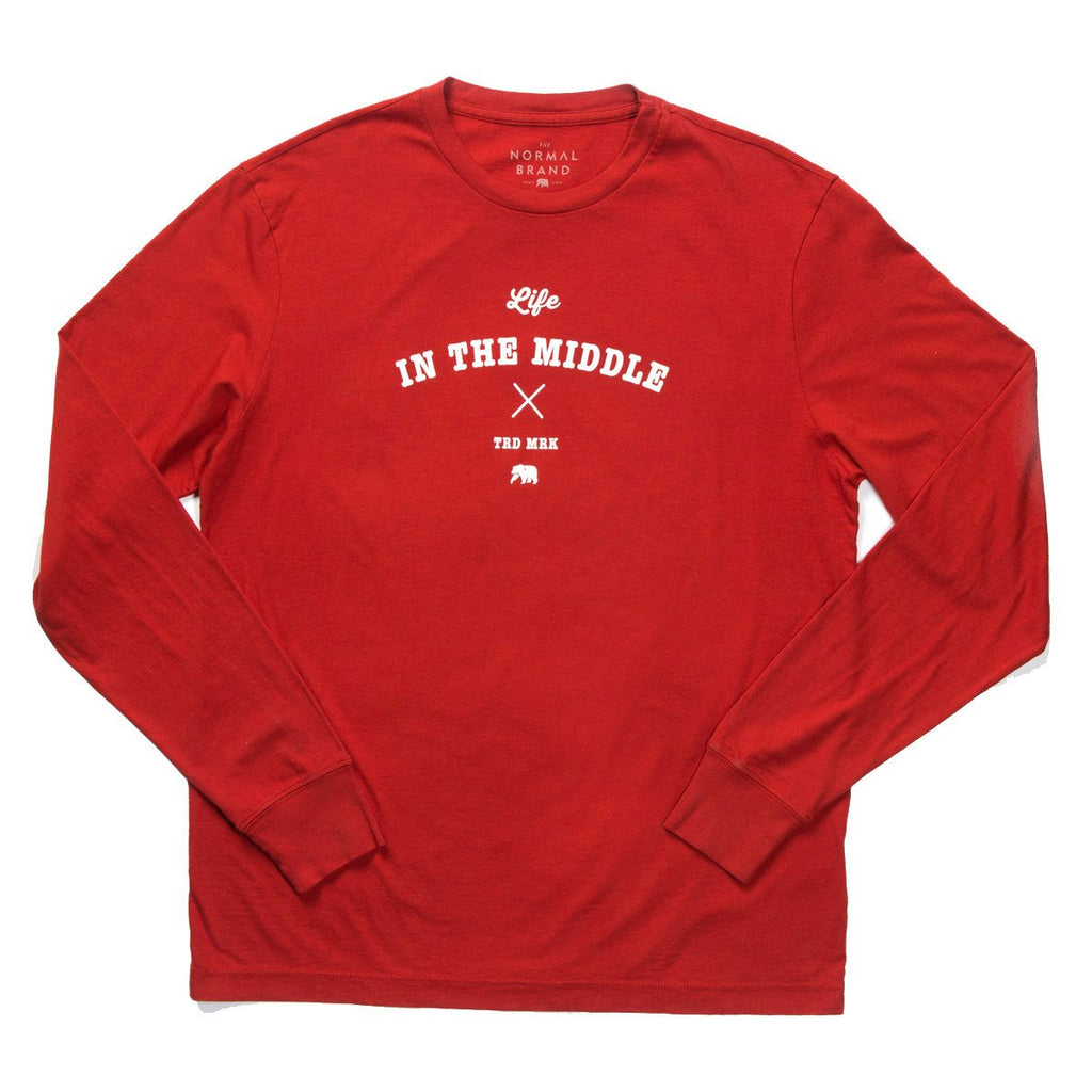 Life in the Middle Long Sleeve T - Rust