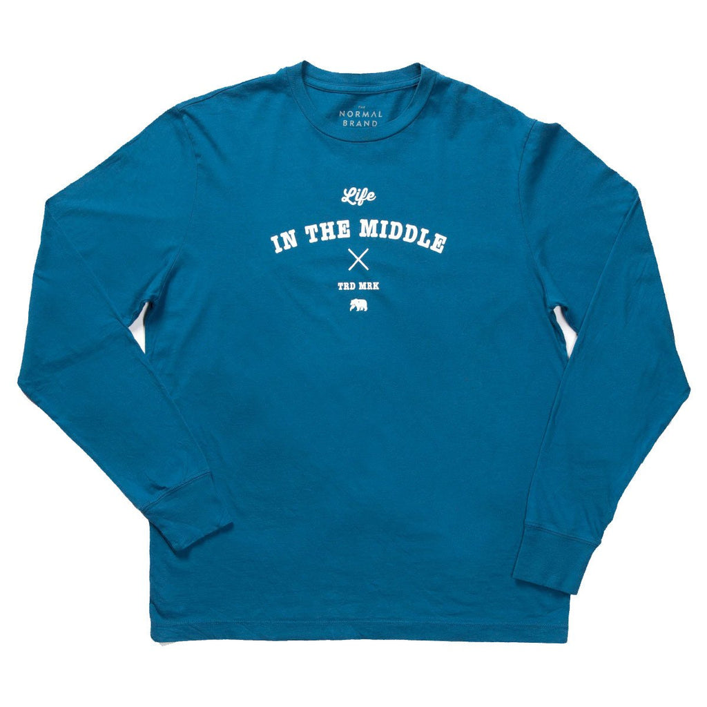 Life in the Middle Long Sleeve T - Blue