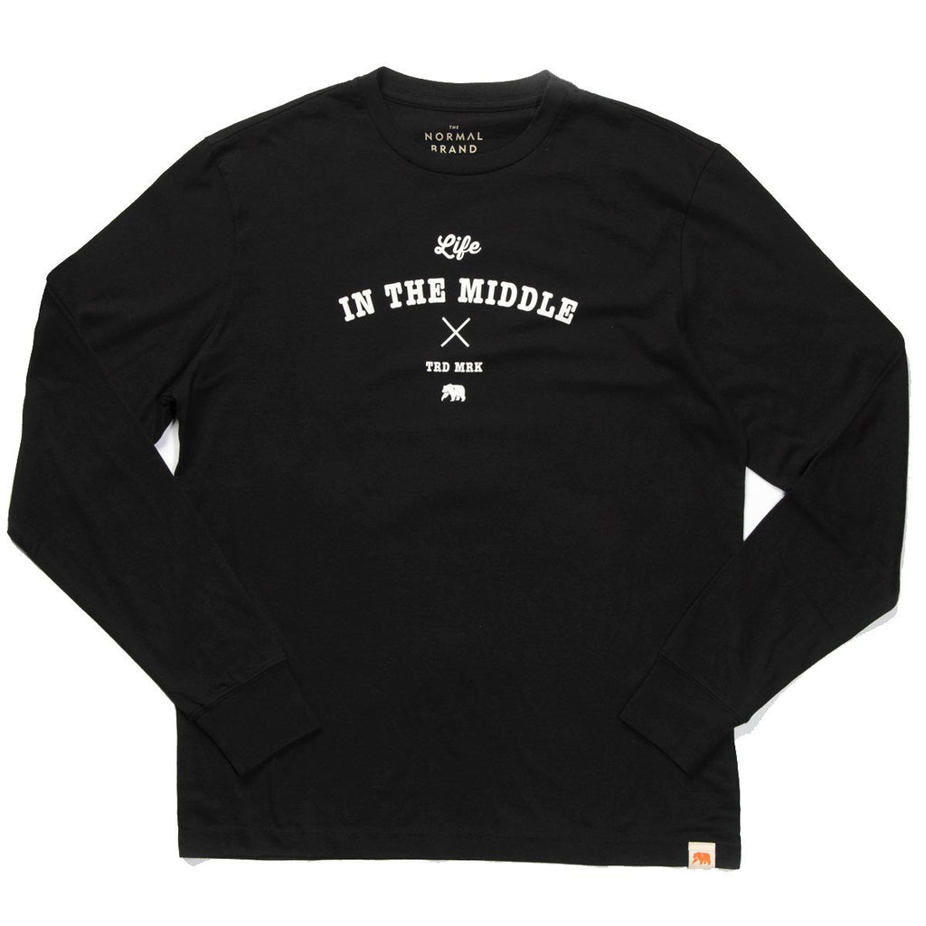 Life in the Middle Long Sleeve T - Black