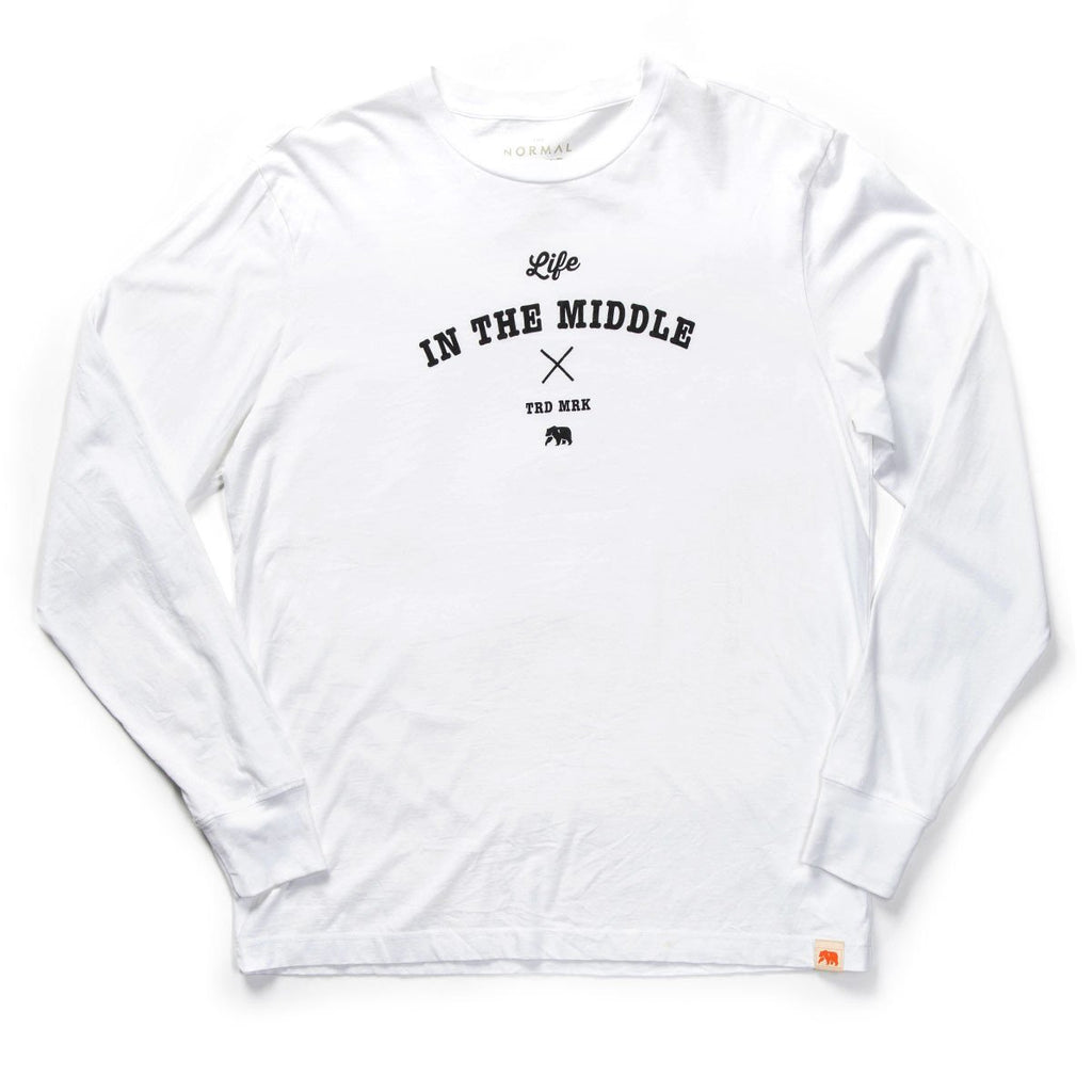 Life in the Middle Long Sleeve T -  White