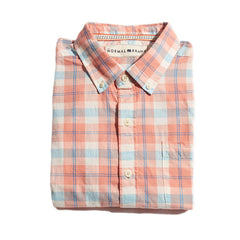Louis Plain Weave Slub Button Down Shirt - Sunrise