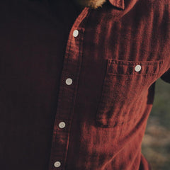 Brushed Weekday Herringbone Button Up Shirt