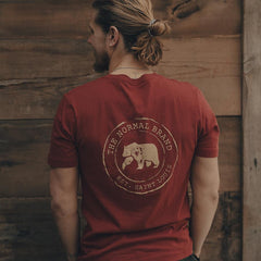 Circle Back Pocket T-shirt - Rust