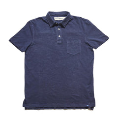 Vintage Slub Short Sleeve Pocket Polo - Navy