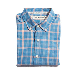 Nikko Plain Weave Button Down Shirt - River