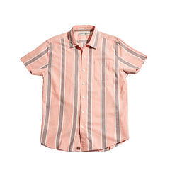 Oakland Twill Short Sleeve Button Up Shirt - Redwood