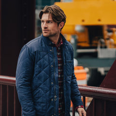 Henry Quilted Jacket - Navy