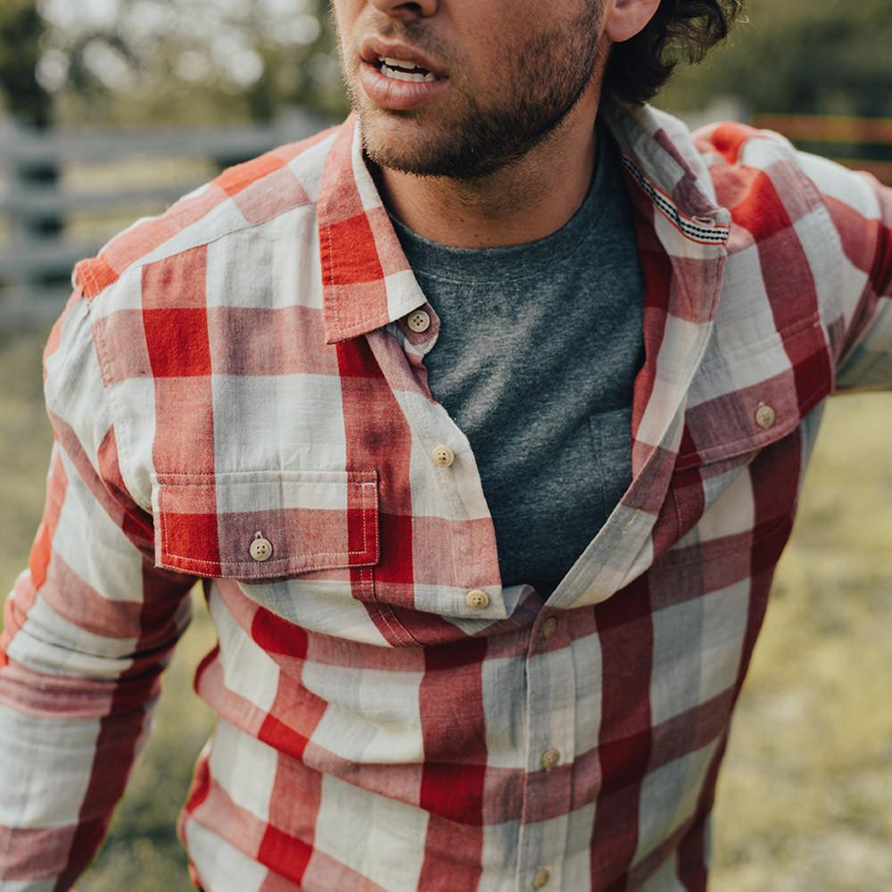Cousins Plaid Button Up Shirt - Red