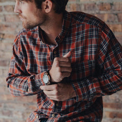 Washed Seasons Plaid Button Down Shirt