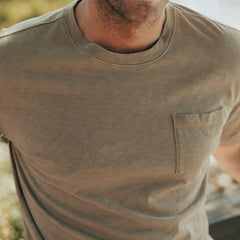 Vintage Slub Short Sleeve Pocket T - Sand