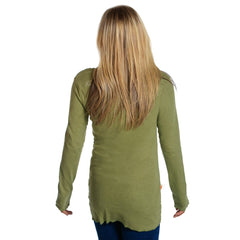 scoop neck womens long sleeve shirts olive