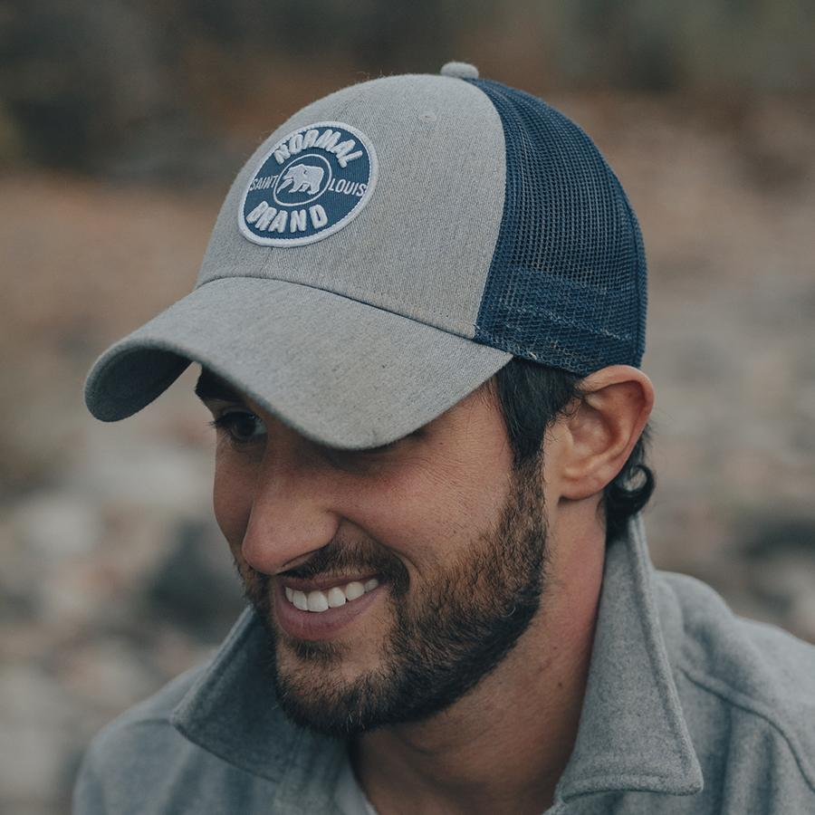 University Bear Cap - Heathered Grey/Navy
