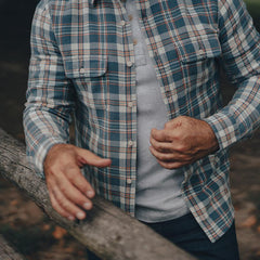 Mountain Overshirt - Mineral Blue