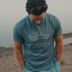 Bronco T-shirt - Mineral Blue