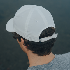 Circle Patch Performance Cap - White