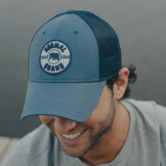 University Bear Cap - Mineral Blue