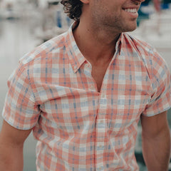 Louis Short Sleeve Button Down Shirt - Sunrise