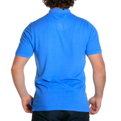 weekday stretch mens polo atlantic blue