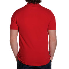 weekday stretch mens polo red