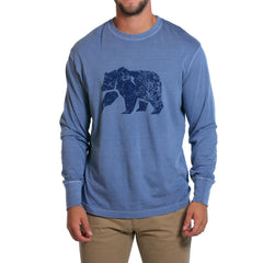Long Sleeve Bear T - Blue Jean