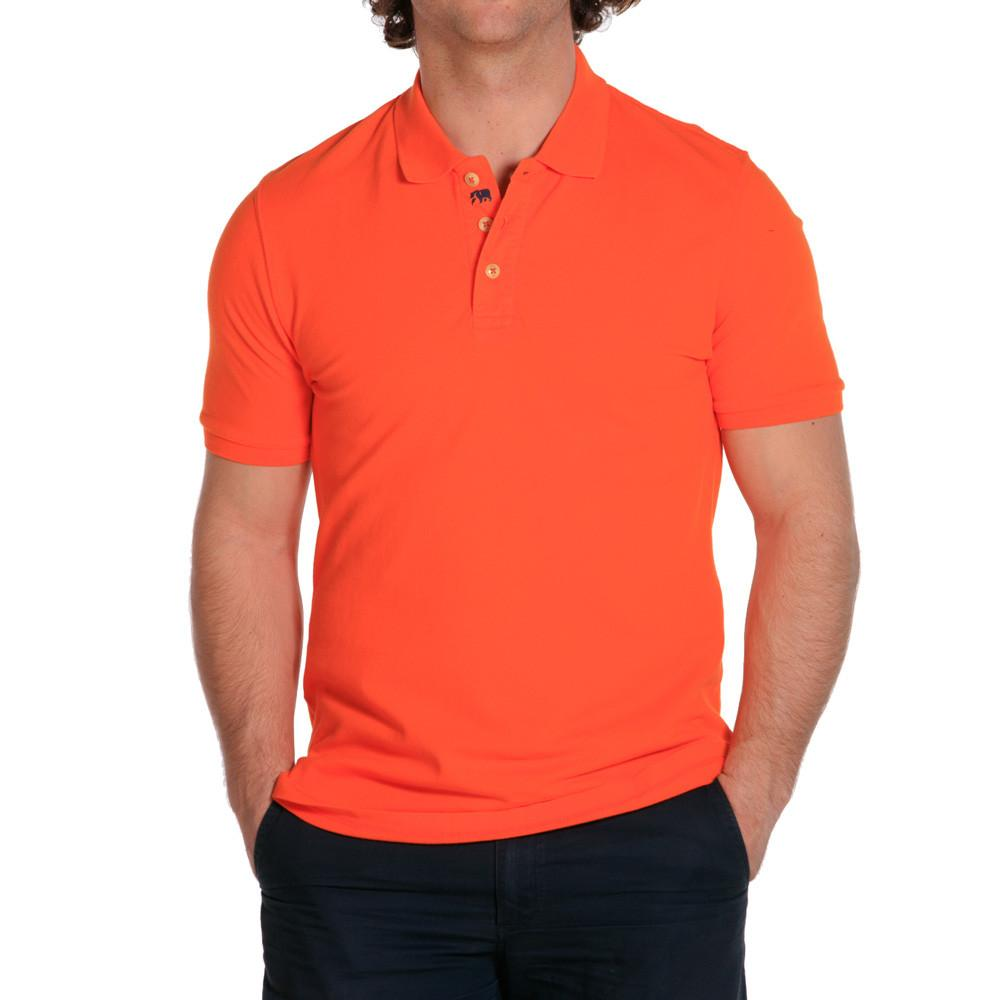 weekday stretch mens polo stone blaze