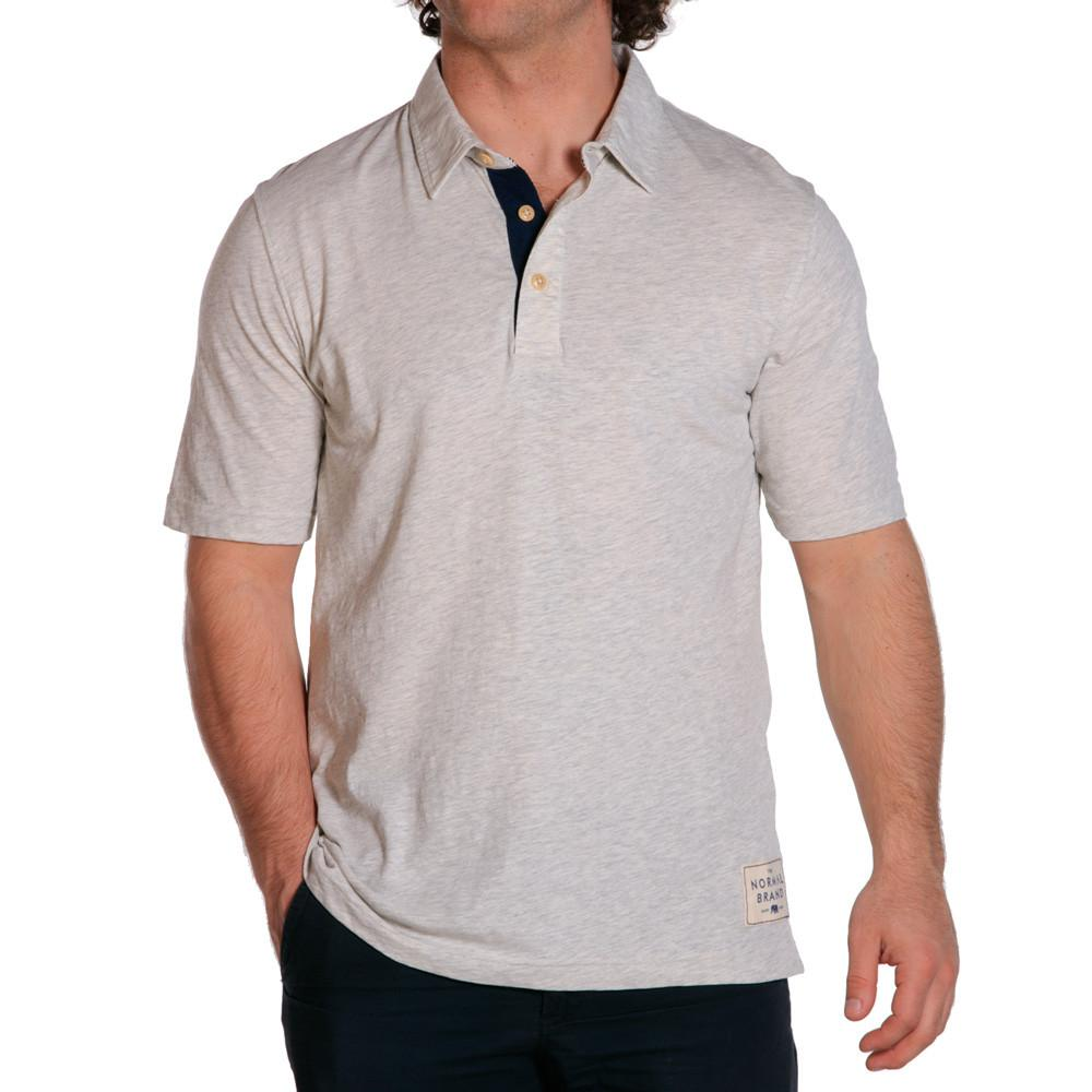 weekend slub mens polo stone