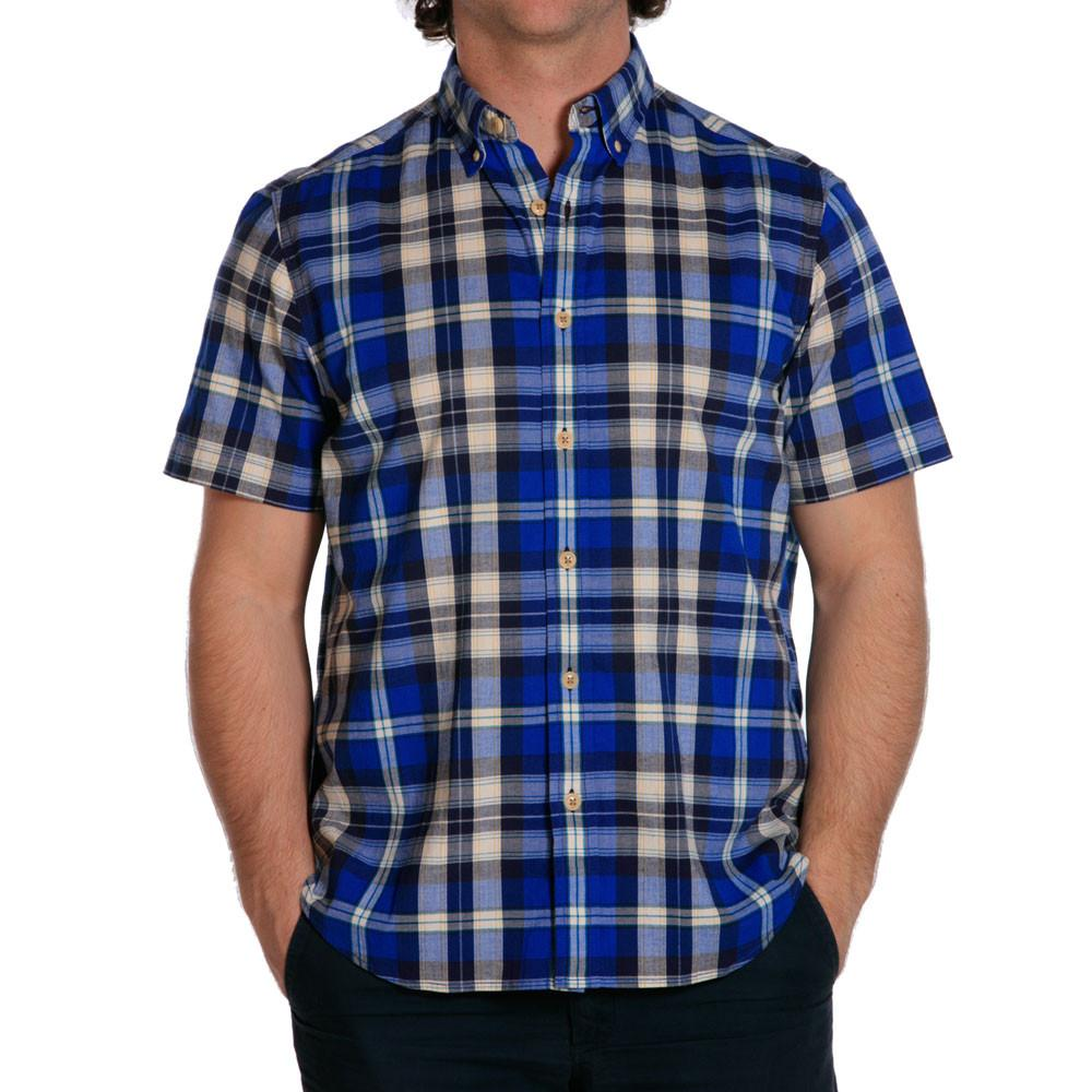 Stefan Stretch Plaid - Blue