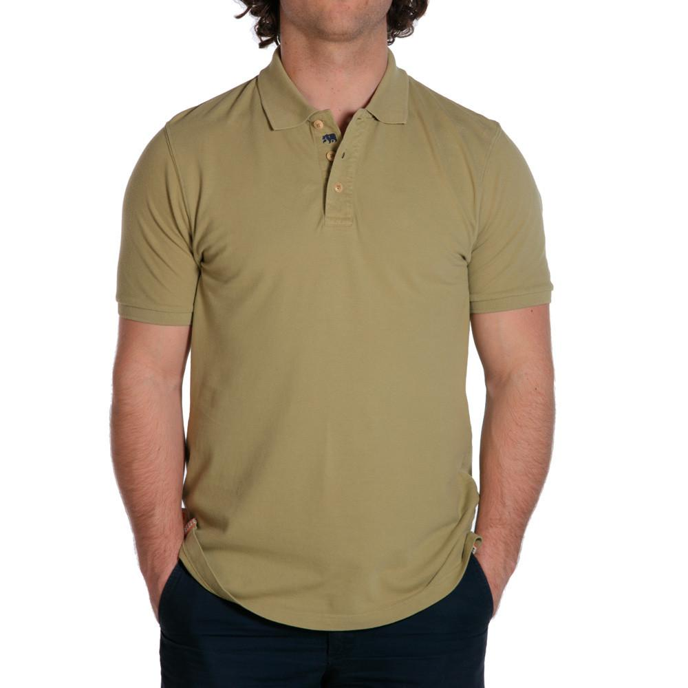 weekday stretch mens polo olive
