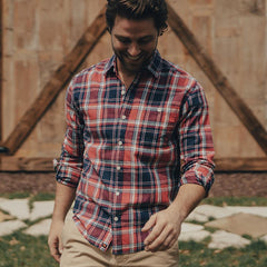 Leland Plaid Button Up Shirt