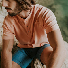 Puremeso Henley - Dusty Orange