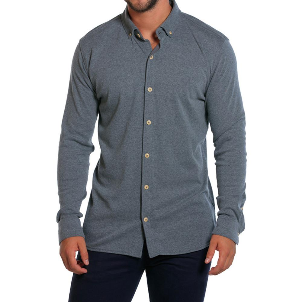 Puremeso Button Up - Grey