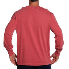 Long Sleeve Bear T - Crimson