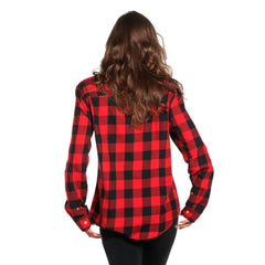Boyfriend Brushed Buffalo Shirt - Red/Black