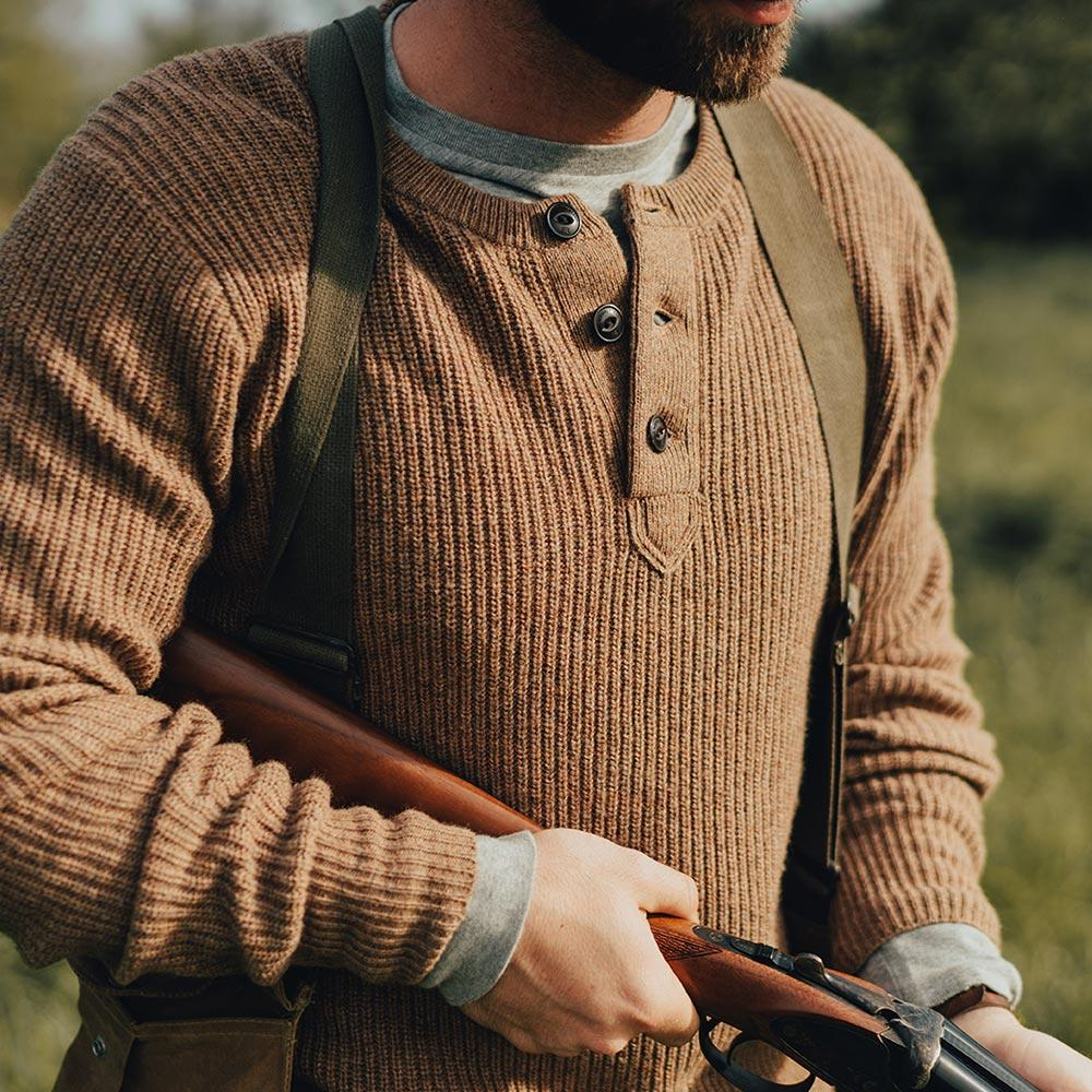 Shaker Sweater - Brown